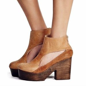 Free People Horizon Cut Out Clog Booties